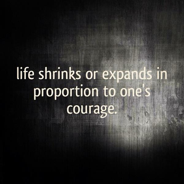 courage and choices A beautiful collection of inspirational quotes about courage, faith and inner strength.