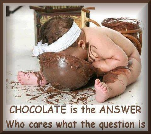Baby and chocolate