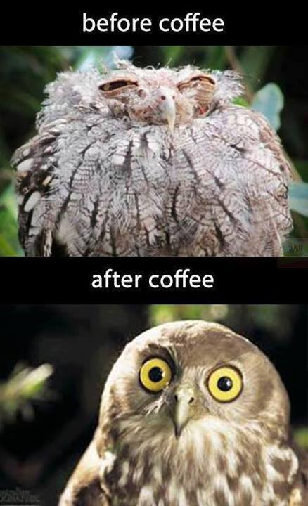 Before coffee - After coffee