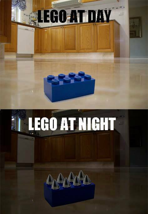 Lego at night
