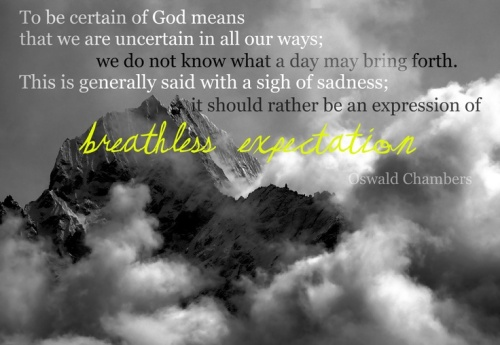 Certain of God - Oswald Chambers