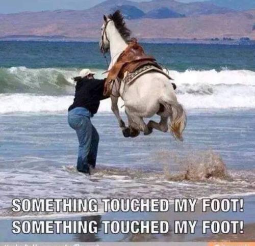 Touched my foot